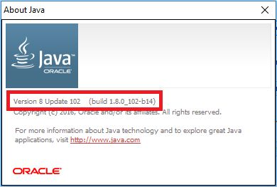 Java version